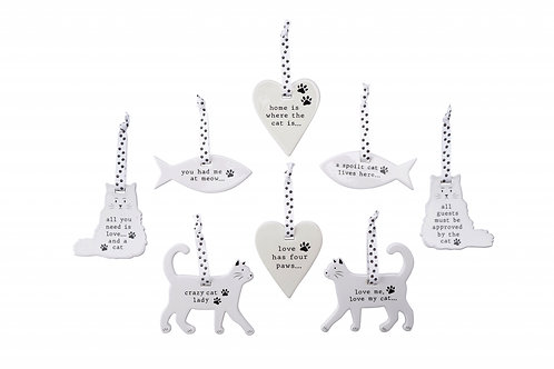 Ceramic Cat Hanger
