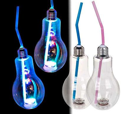 LED Light Bulb Drinking Glass