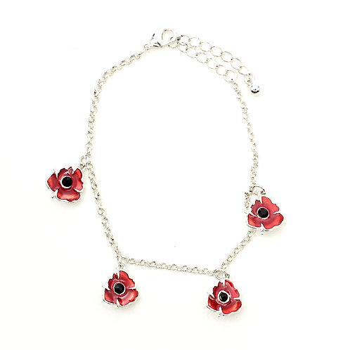 Enamel Poppy Bracelet