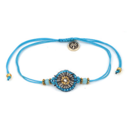 Adjustable Cord Beads Bracelet