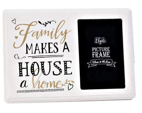 Black White Gold Wood Motto Family Makes A Frame