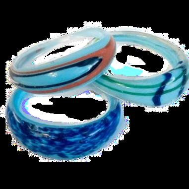 Blue Glass Napkin Ring