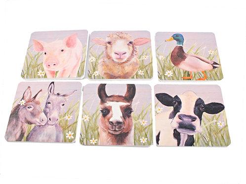 Farm Animal Coaster