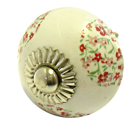 Round Floral Drawer Pull