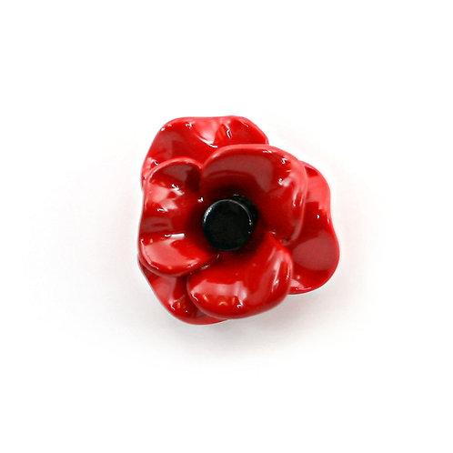 3D Poppy Brooch