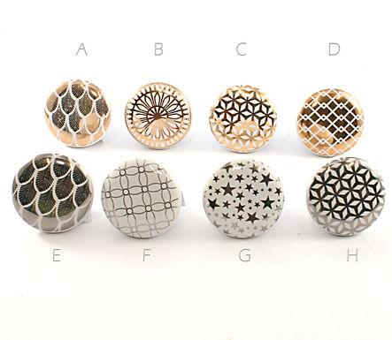 Ceramic Metal Foil Drawer Pull