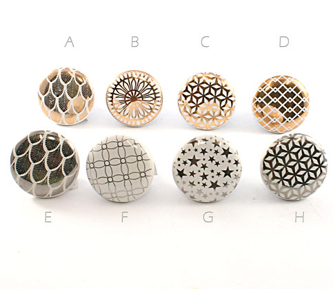 Ceramic Metal Foil Drawer Pull