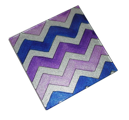 Purple Chevron Coaster