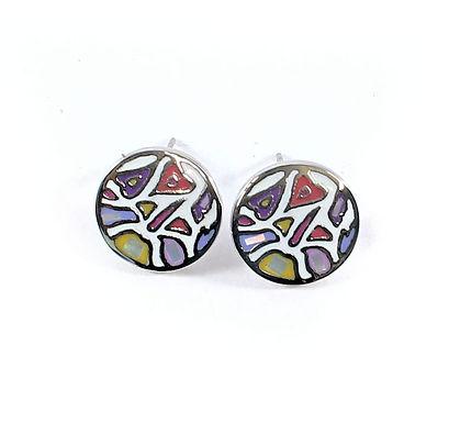 Mosaic Enamelled Earrings