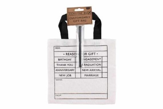 Tick Box Fabric Bag with Pen