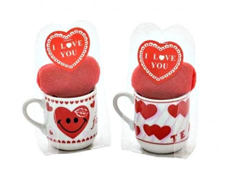 Tiny White Mug & Heart