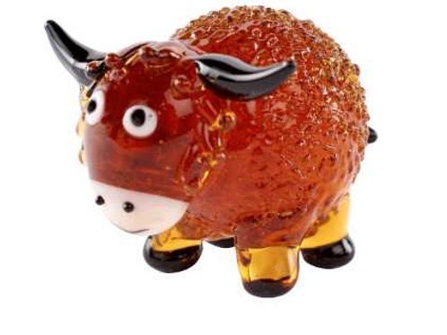 Glass Highland Cow