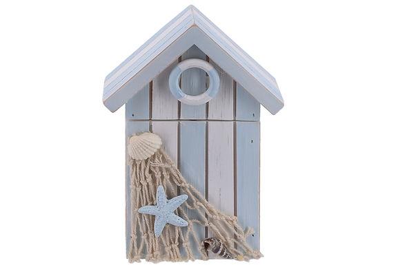 Wooden Beach Hut Box