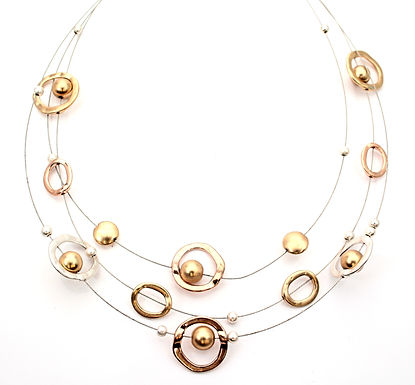Circles And Beads Necklace