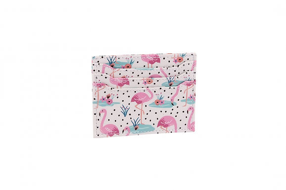 Wallet Card Holder Flamingo