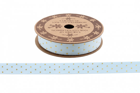 Light Blue Spotty Ribbon
