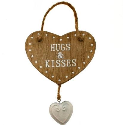 Wood Heart Hanger