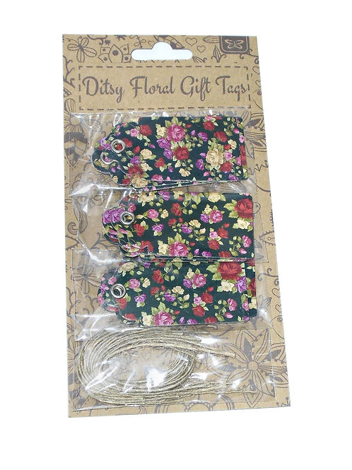 Pack of Floral Gift Tags
