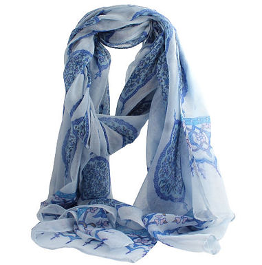 Blue Paisley Scarf