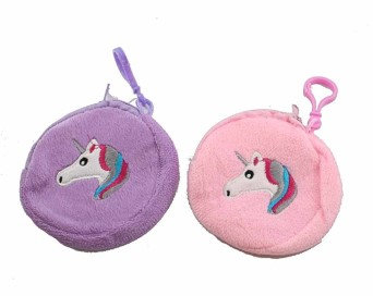 Round Unicorn Keyring Purse