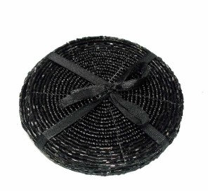 Set of 4 Black Beaded Coasters