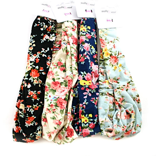 Floral Jersey Hair Band