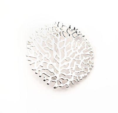 Coral Design Brooch
