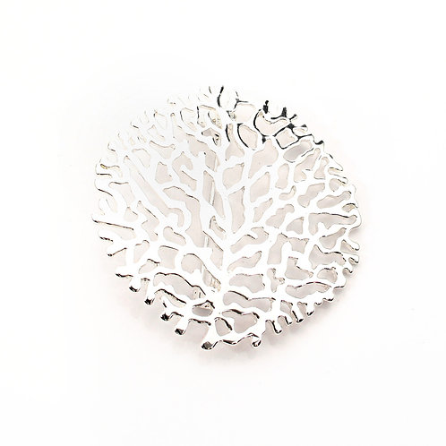 Coral Design Brooch