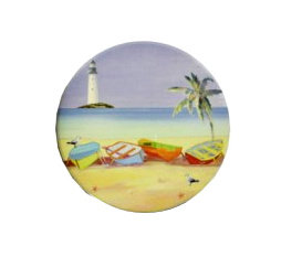 Stoneware Beach Coaster