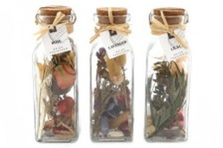 Bottle With Dried Flowers