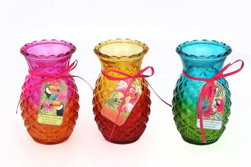 Candle In Pineapple Pot