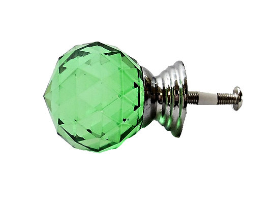 Green Crystal Drawer Pull