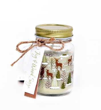 Christmas Candle in Glass Jar