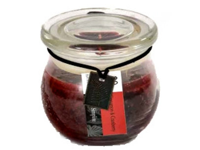 Red Candle in Glass Jar