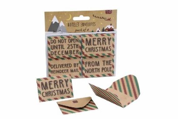 Christmas Notelet Envelopes
