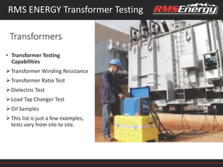 Transformer Testing Services Designed for Your Site
