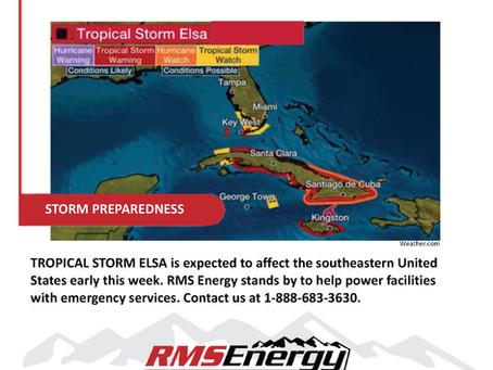 Monitoring Tropical Storm Elsa