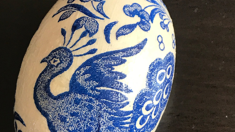 """""""Blue and White Chinoiserie-style"""" - Egg Ornament"""