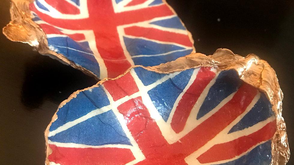 """British Union Jack"" - Oyster Ornament"