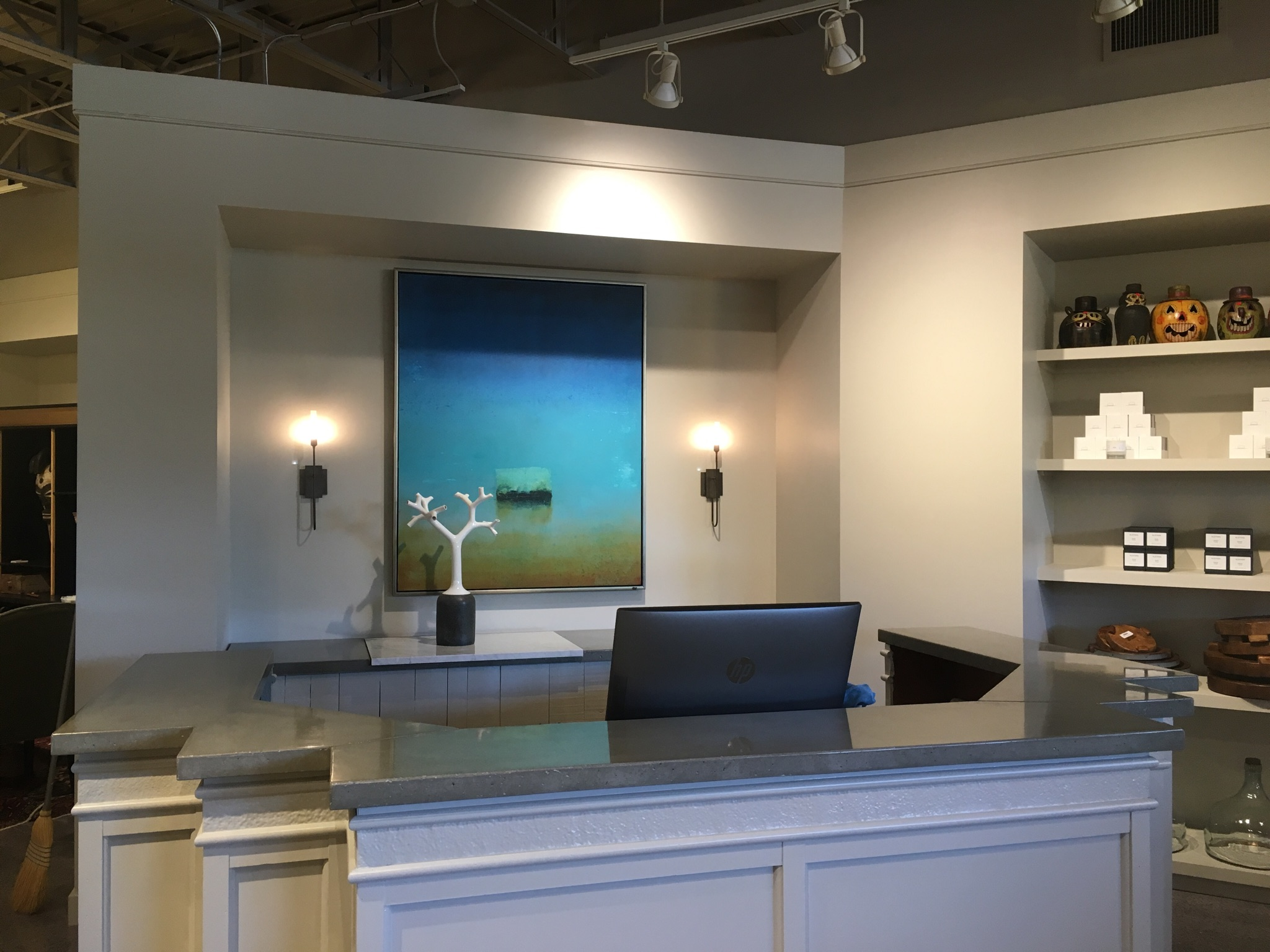 Laws interiors reception desk