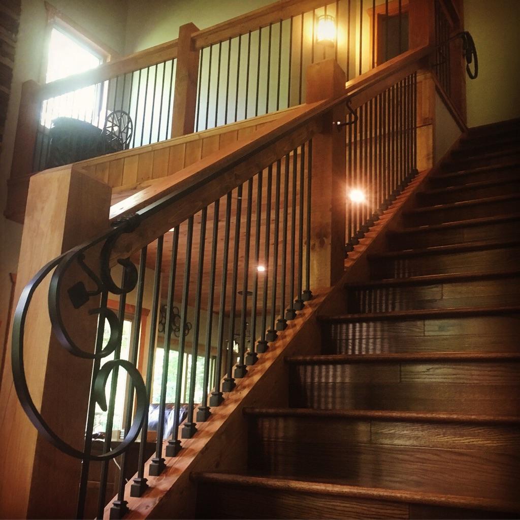 scroll handrail