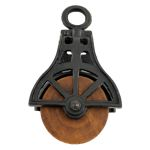 Iron and Wood Pulley