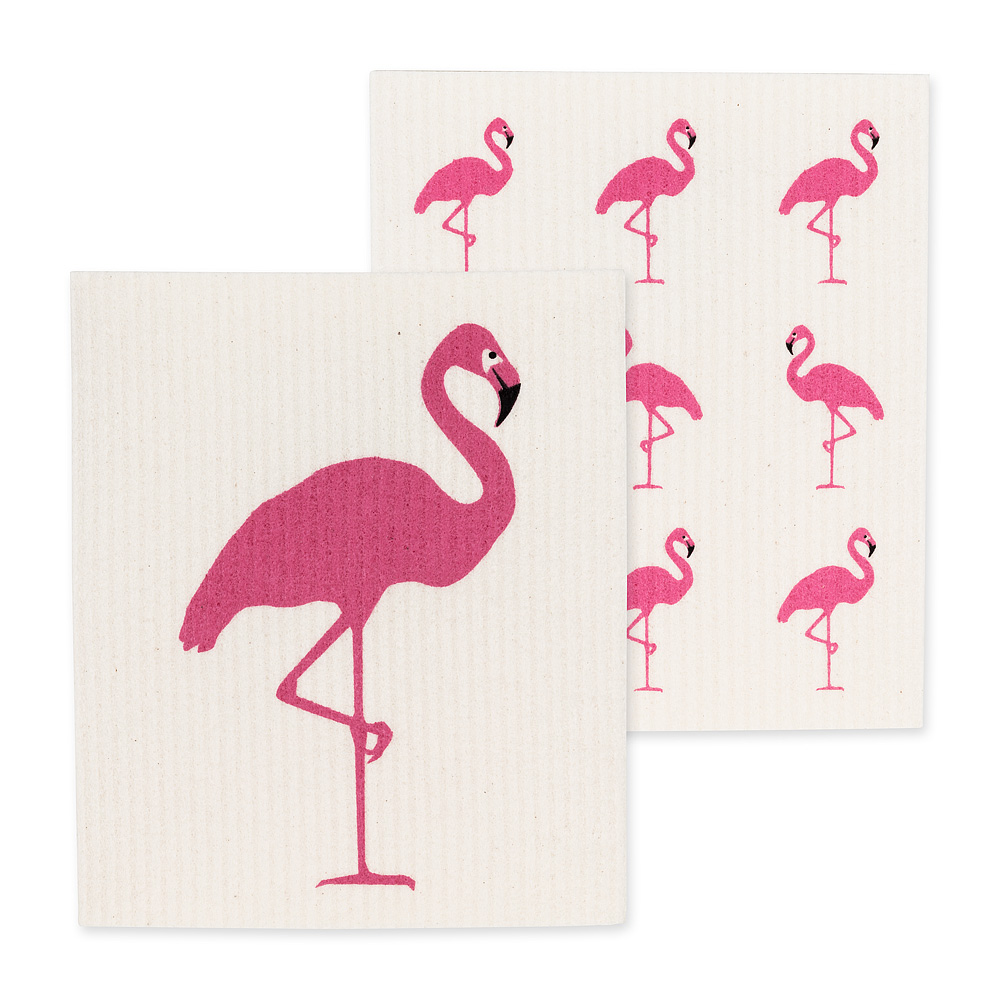 Swedish Flamingo Dishcloth