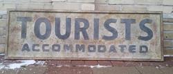 Rusty Tourist Sign