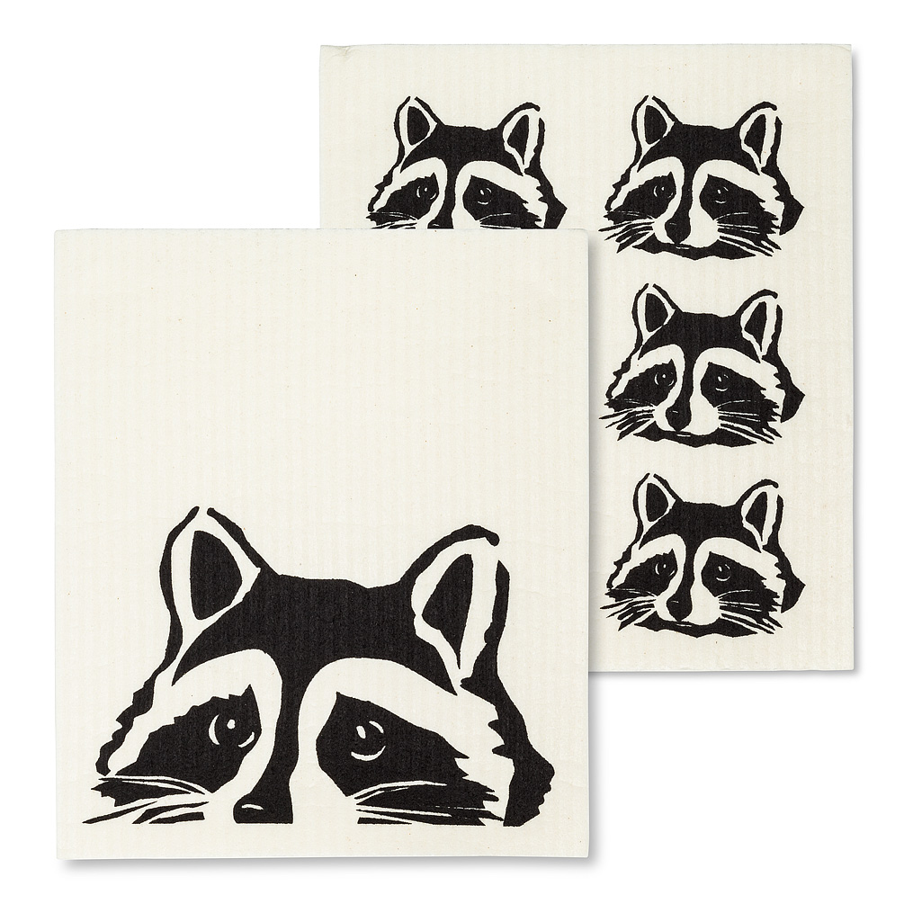 Raccoon Swedish Dishcloth