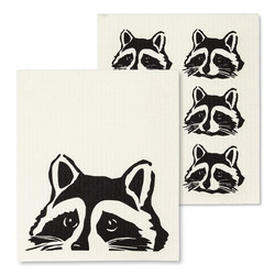 Raccoon Swedish Dishcloth
