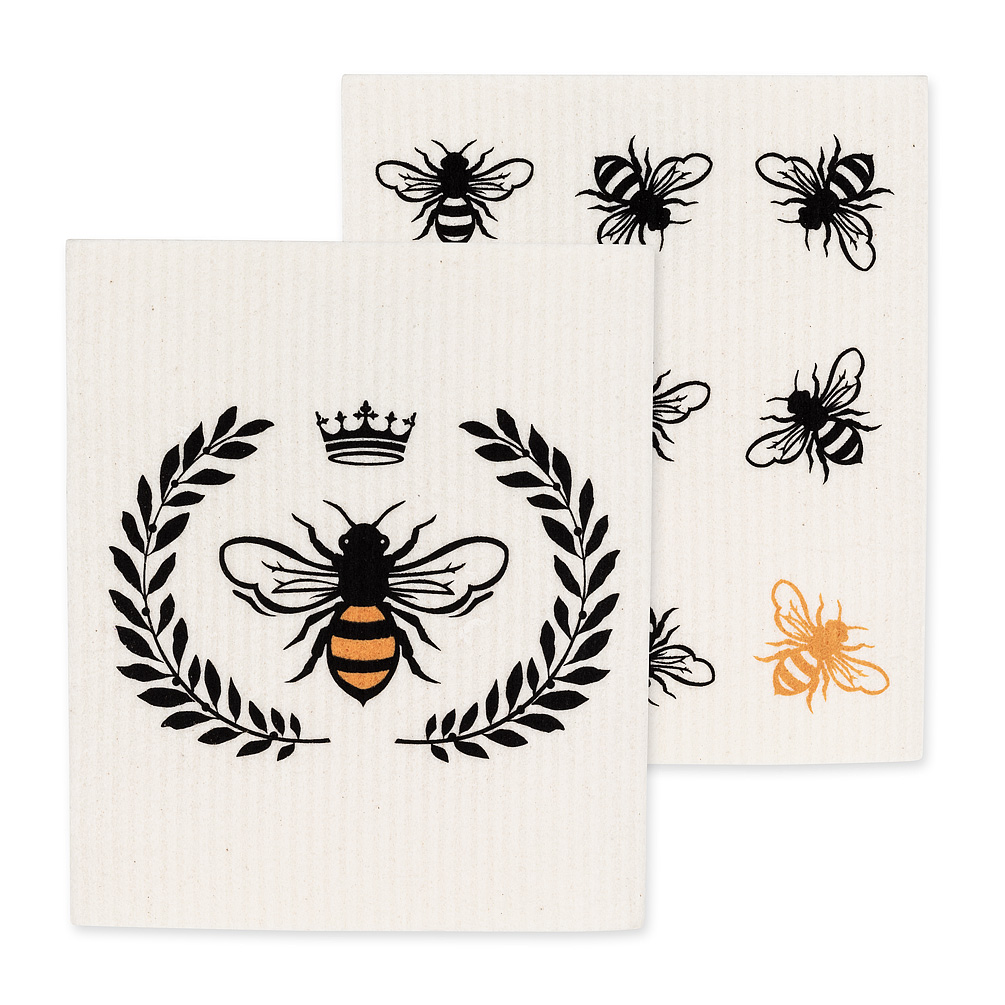 Swedish Bee Dishcloth