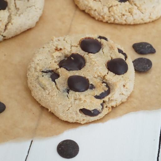 Schokochip-Kekse (vegan, ohne raffinierten Zucker, glutenfrei)