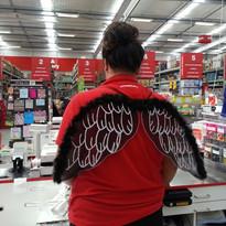 Wearing Wings to Work, Whitianga Wharehouse