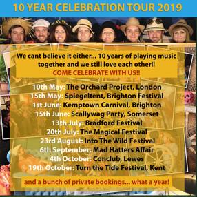 Dende TOUR poster 2019